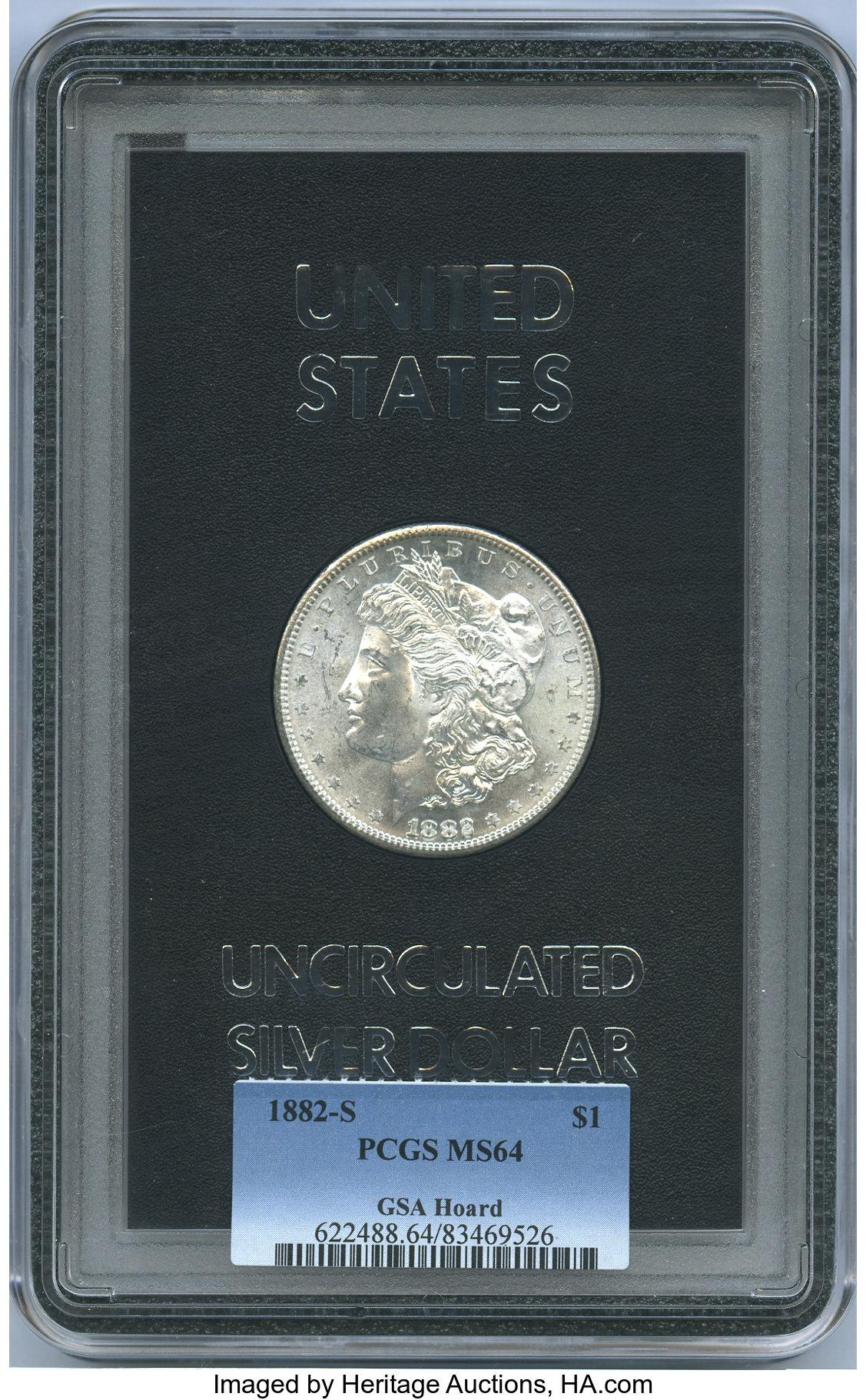 sample image for 1882-S $1  MS GSA Hoard