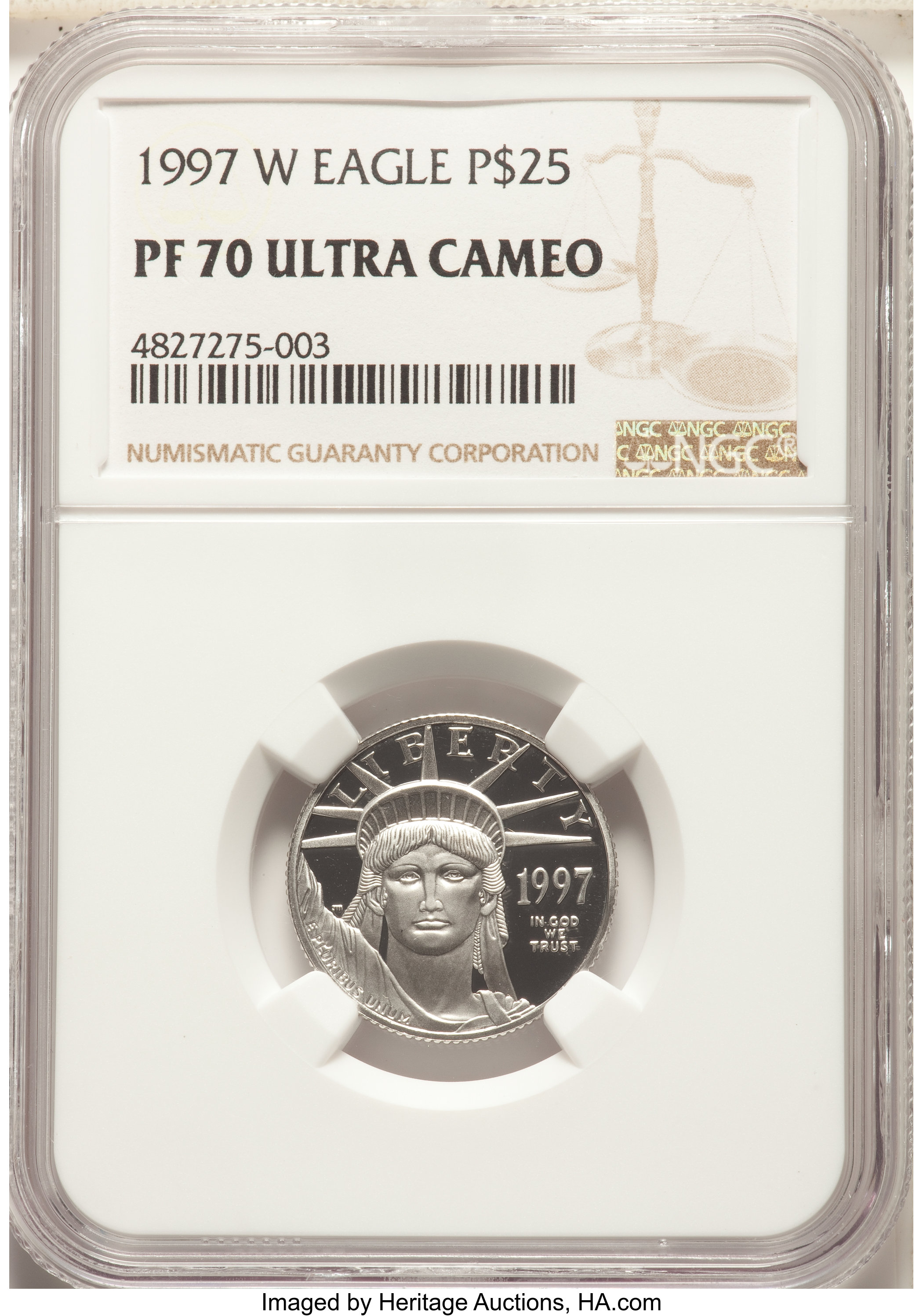 sample image for 1997-W Platinum Eagle $25  PR DCAM