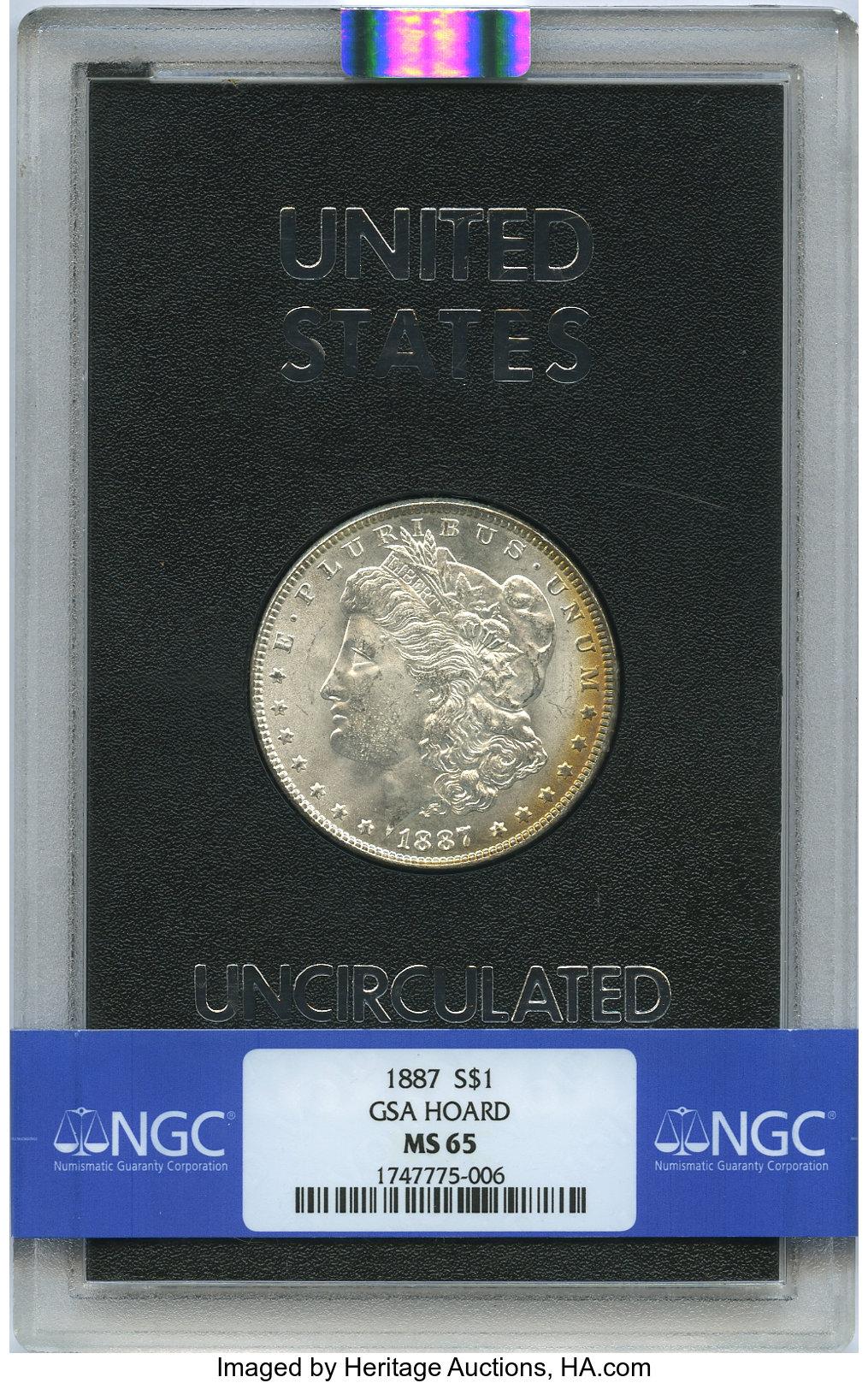 sample image for 1887 $1  MS GSA Hoard