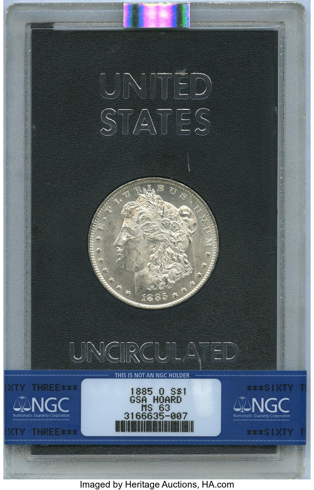 sample image for 1885-O $1  MS GSA Hoard