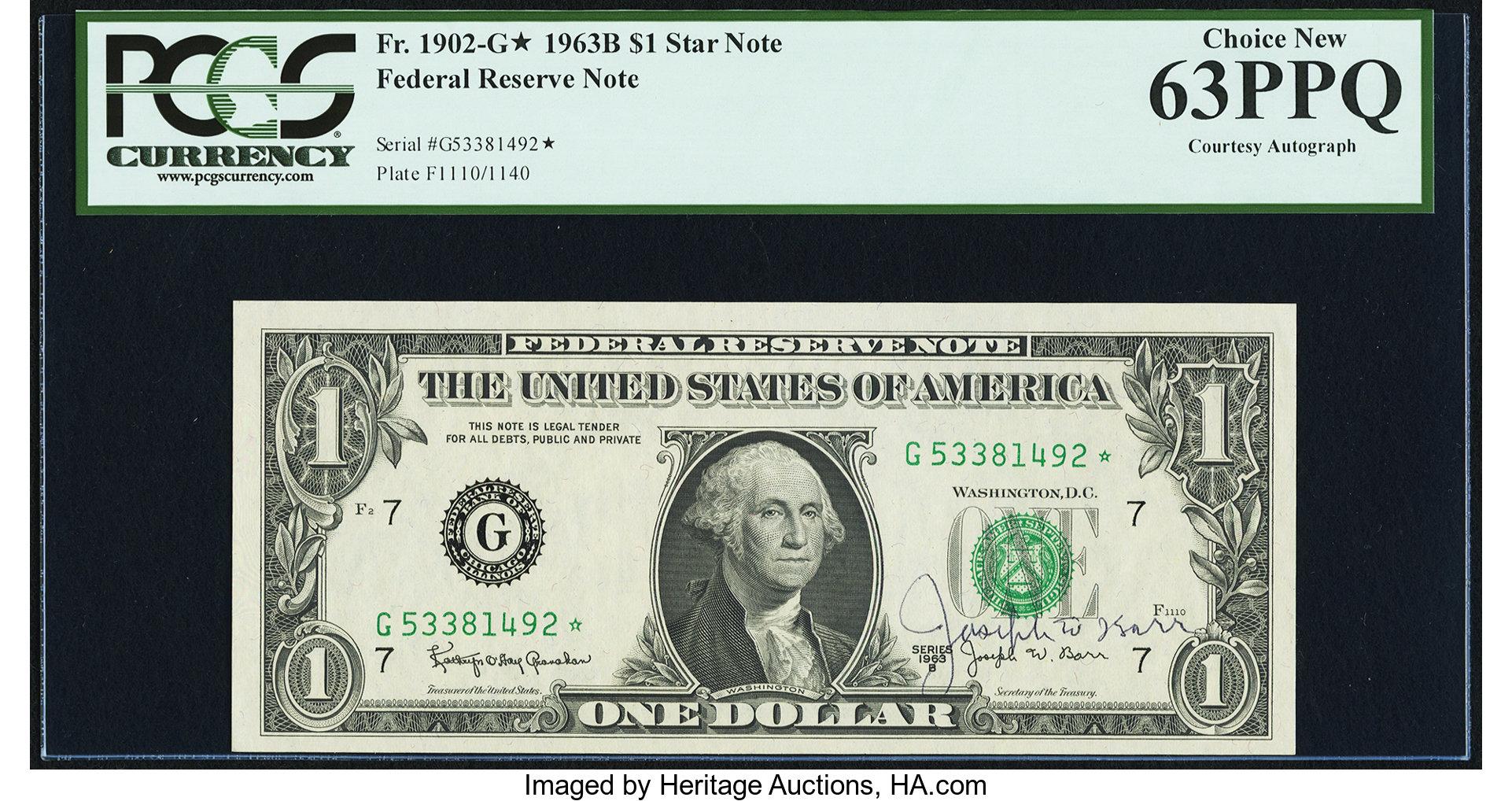 sample image for 1963B $1  Chicago (Fr.# 1902G*)