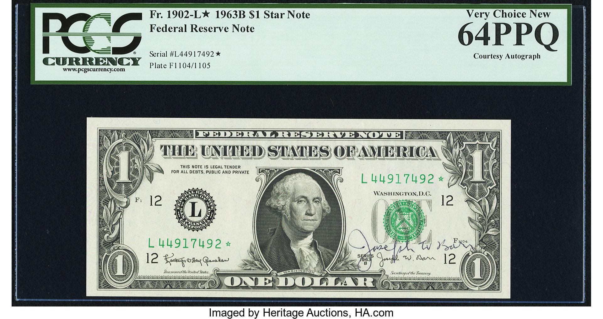 sample image for 1963B $1  San Francisco (Fr.# 1902L*)