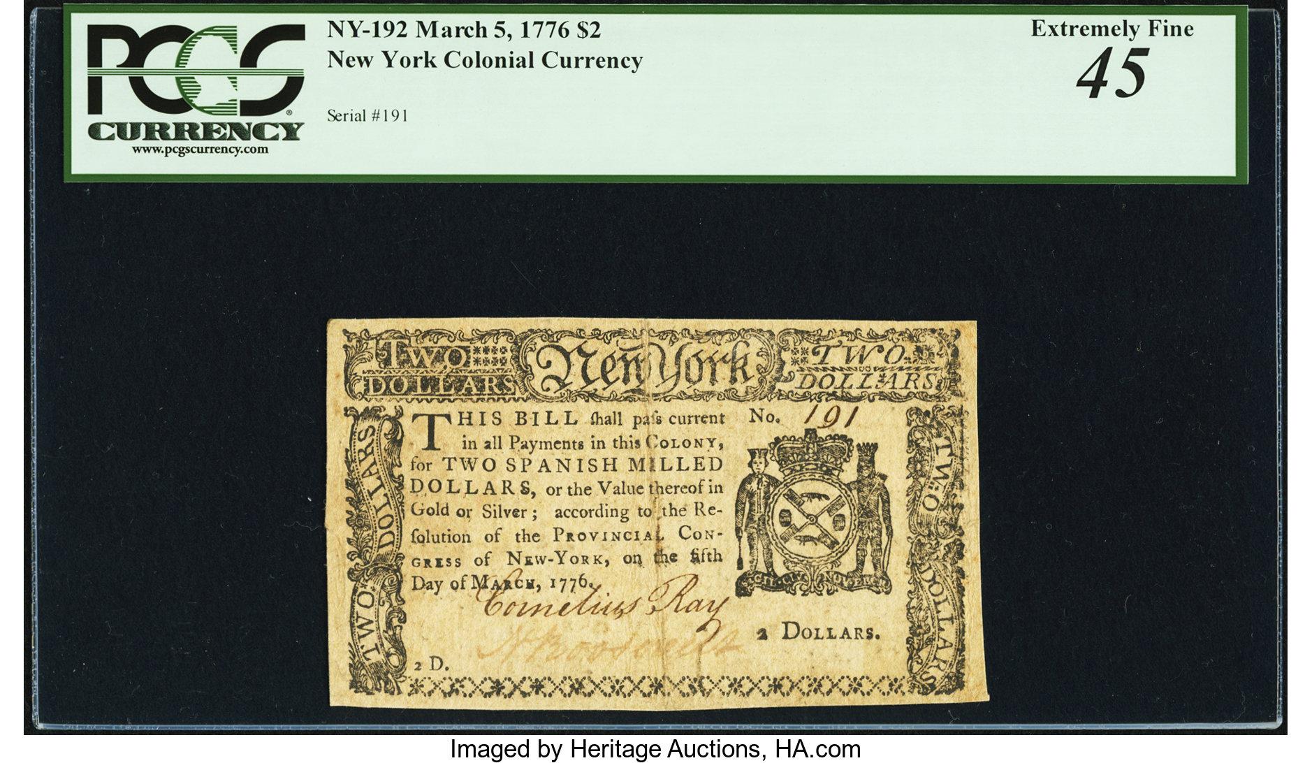 sample image for 1776 5-Mar $2  (Fr.# NY192)