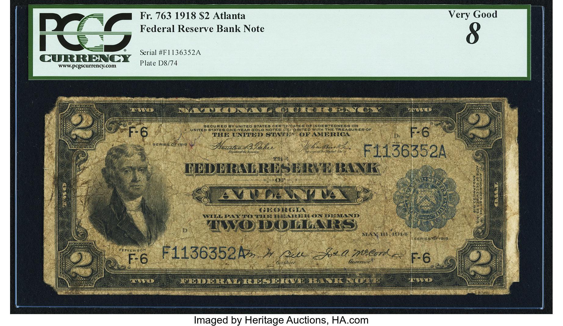 sample image for 1918 $2  Atlanta (Fr.# 763)