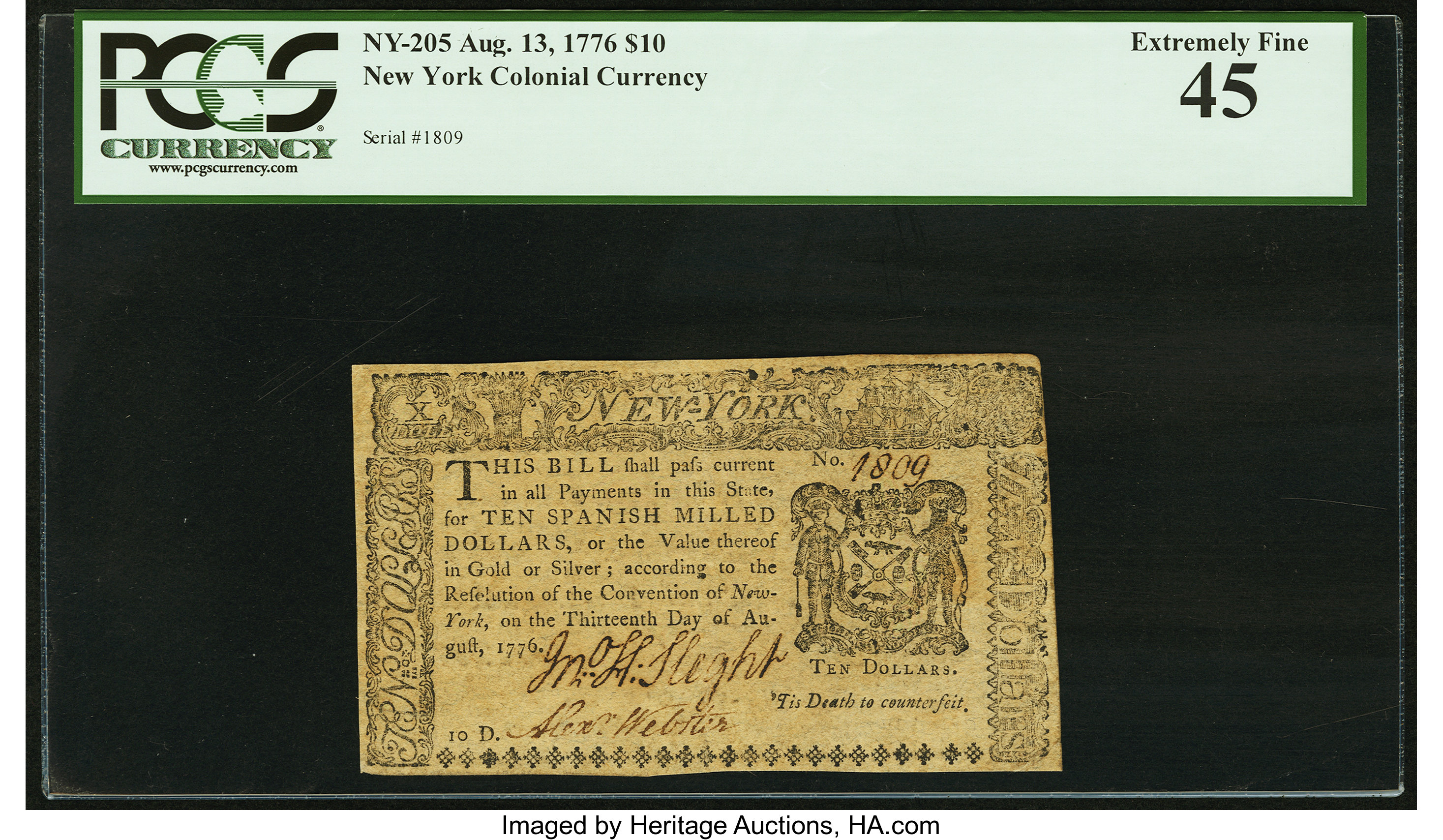 sample image for 1776 13-Aug $10  (Fr.# NY205)