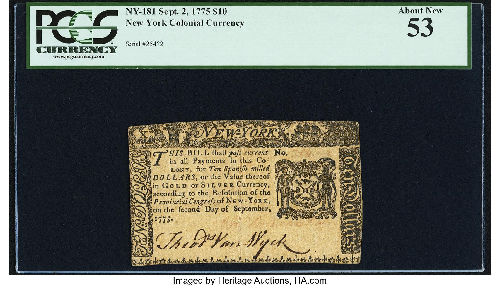 sample image for 1775 2-Sep $10  (Fr.# NY181)
