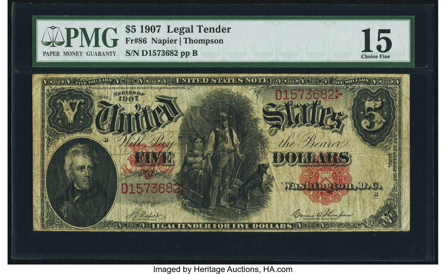 sample image for 1907 $5  (Fr.# 86)