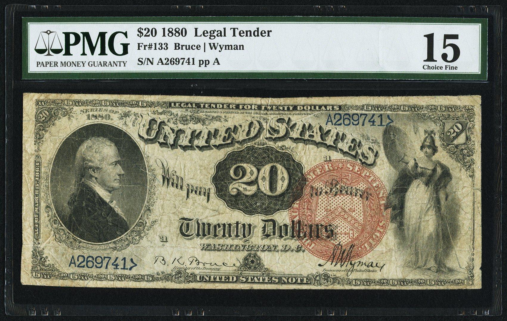 sample image for 1880 $20  (Fr.# 133)
