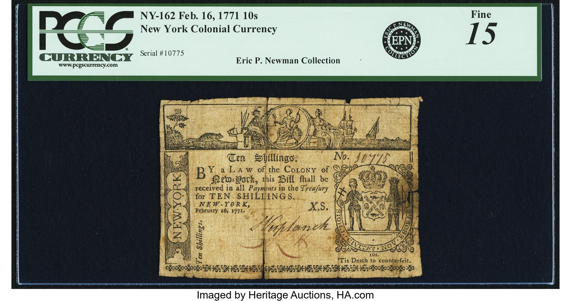 sample image for 1771 16-Feb 10S (Fr.# NY162)