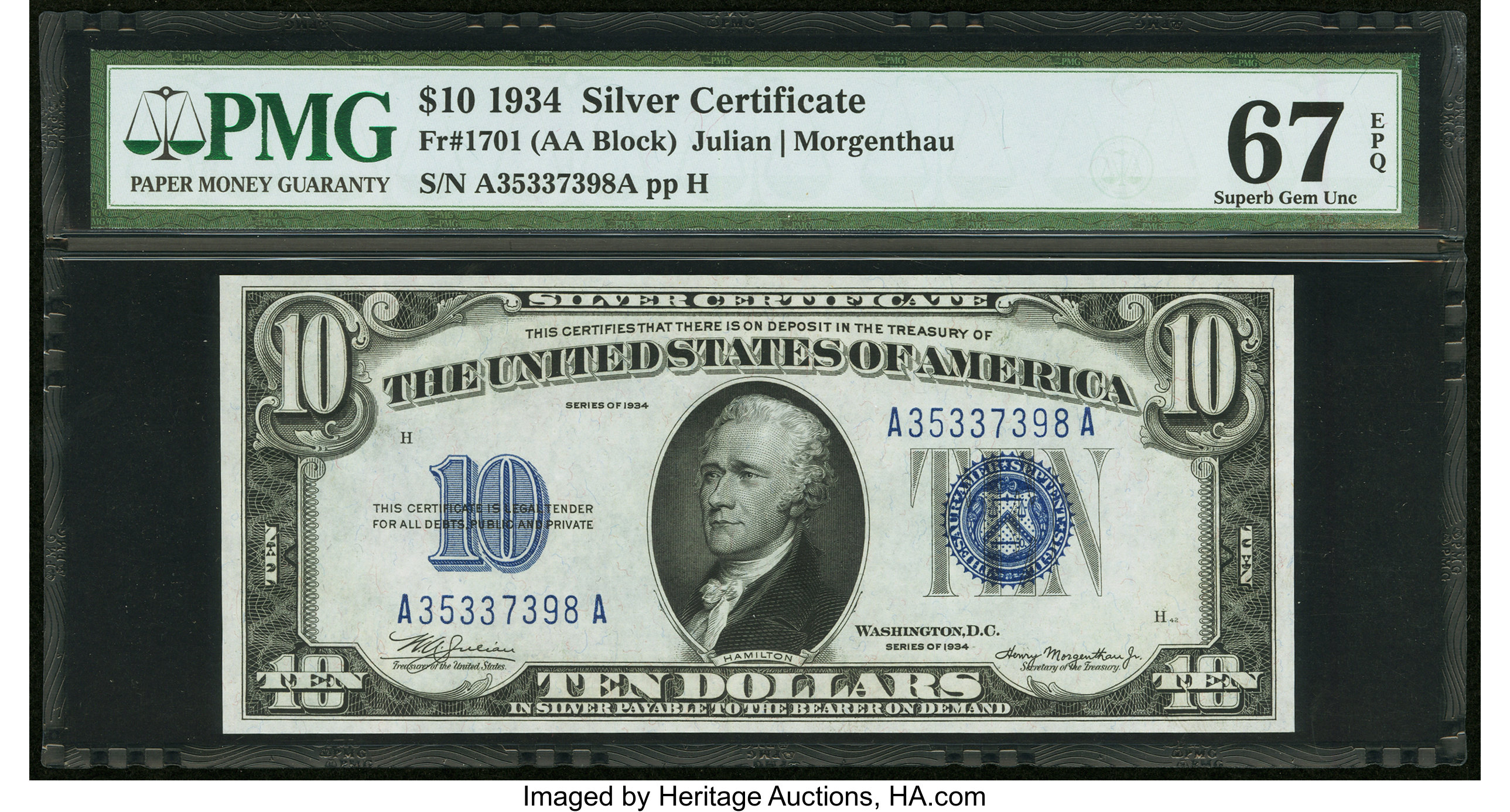 sample image for 1934 $10  (Fr.# 1701)