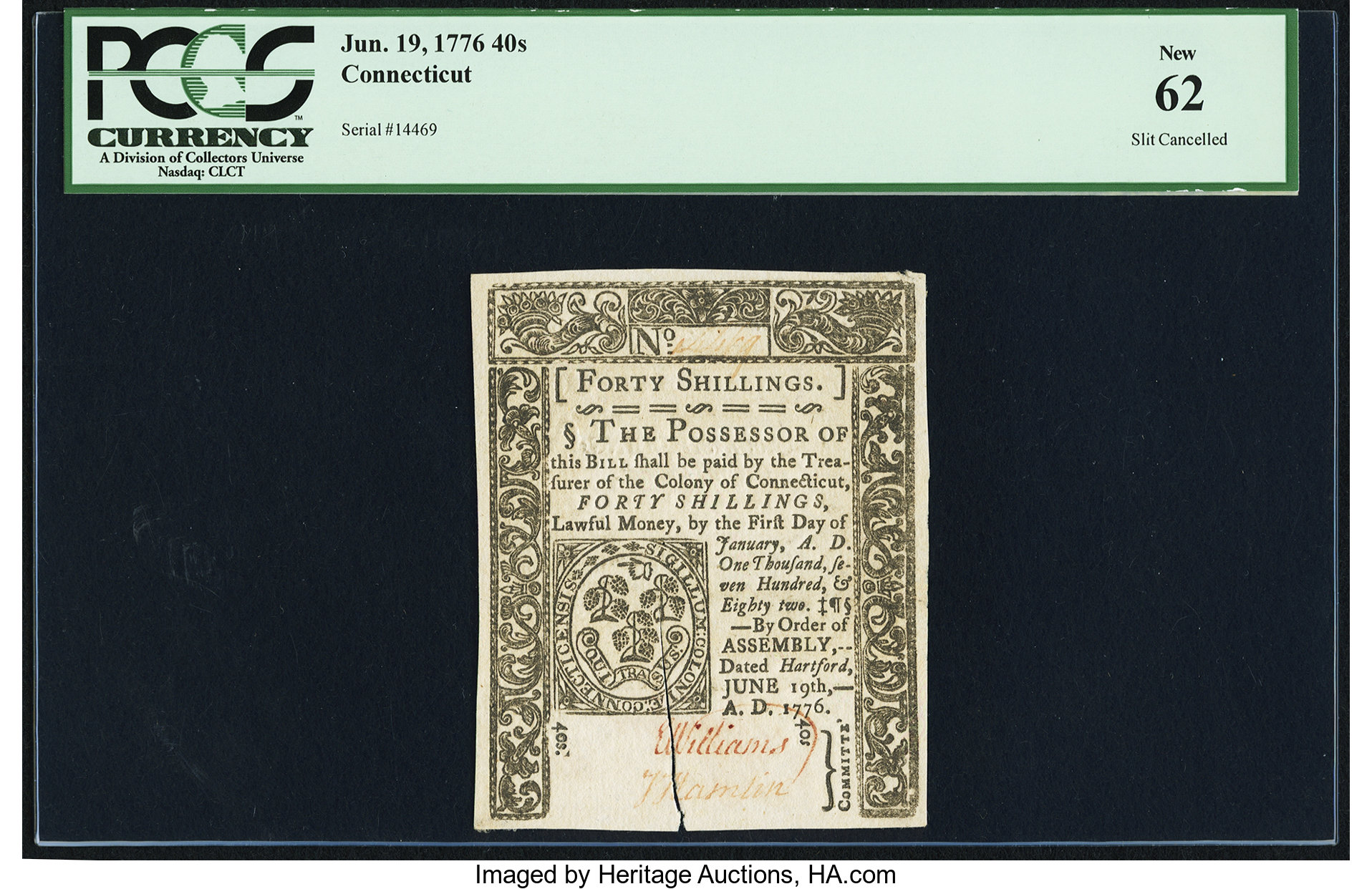sample image for 1776 19-Jun 40s (Fr.# CT213)
