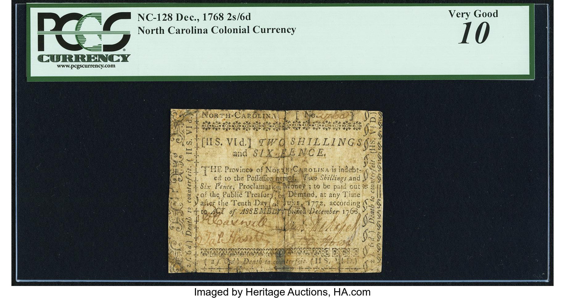sample image for 1768 December  2s/6d (Fr.# NC128)