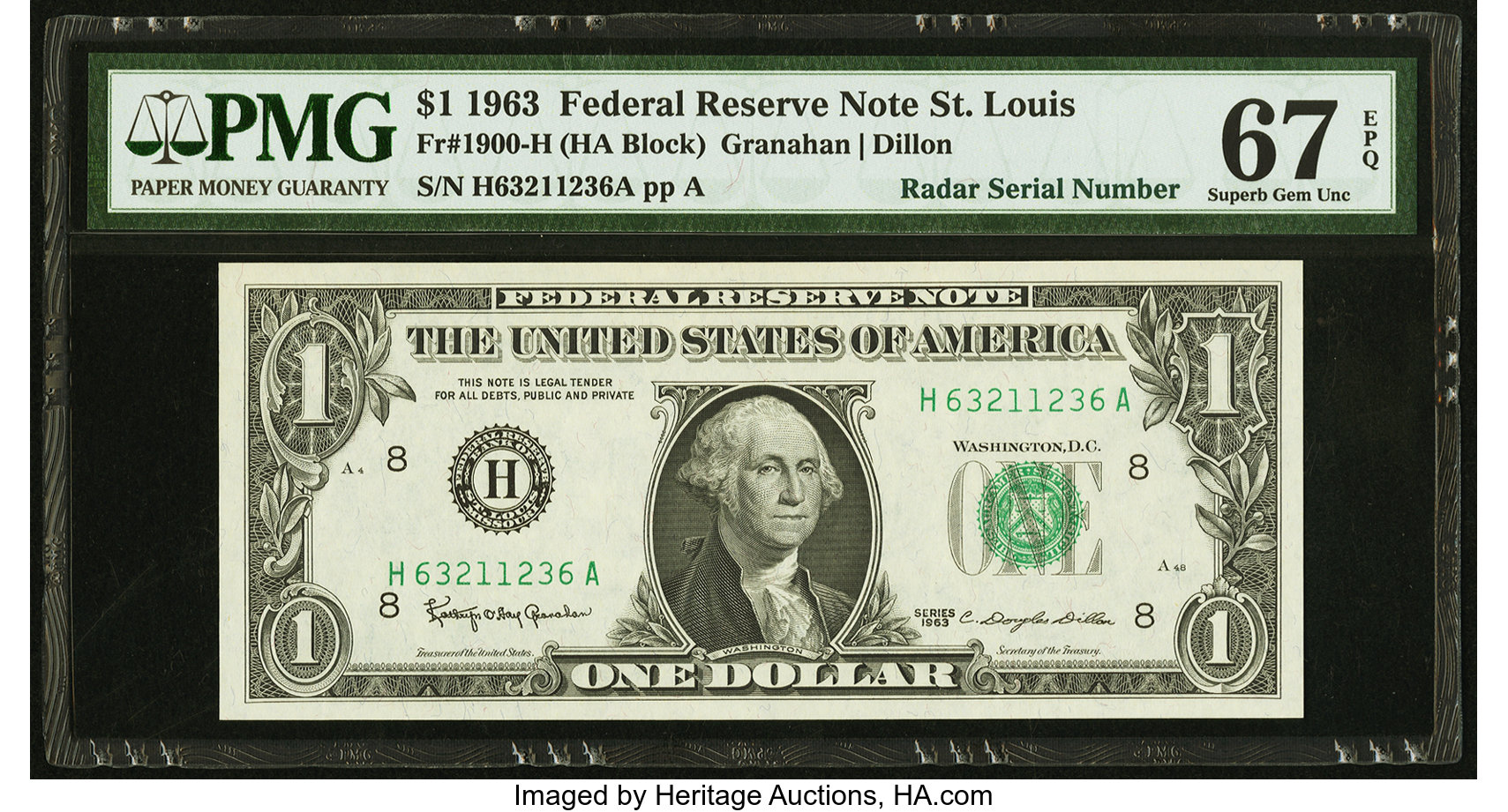sample image for 1963 $1  St. Louis (Fr.# 1900H)