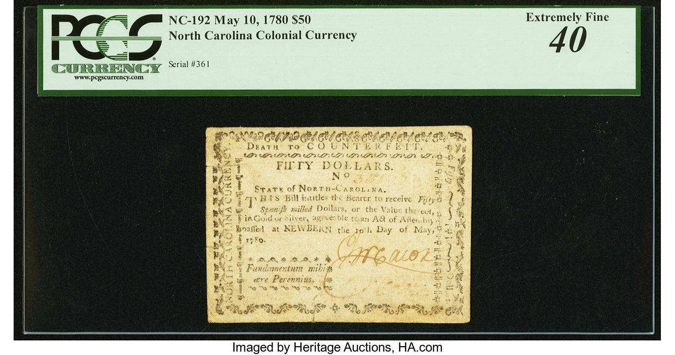 sample image for 1780 10-May $50  (Fr.# NC192)