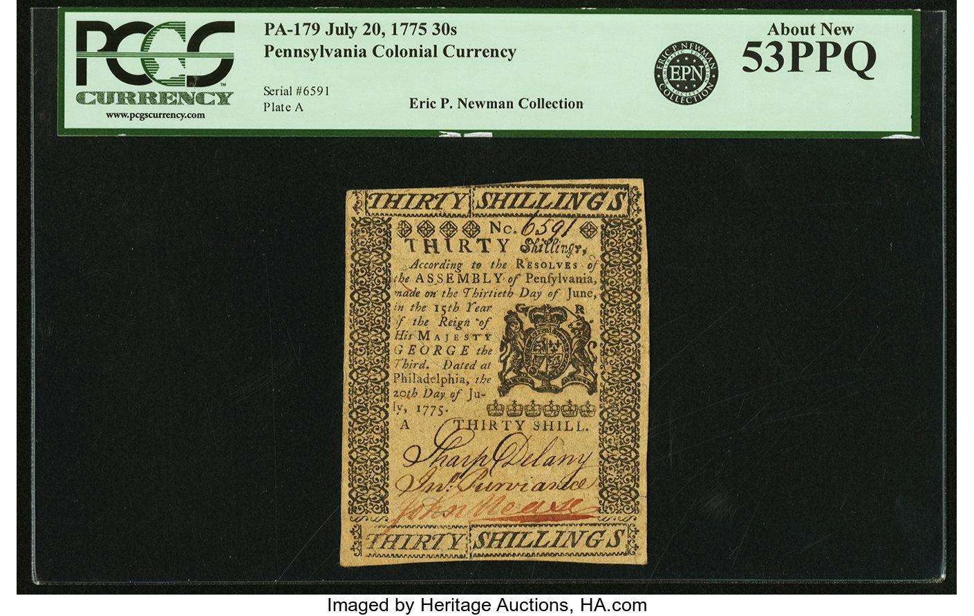 sample image for 1775 20-Jul 30s (Fr.# PA179)