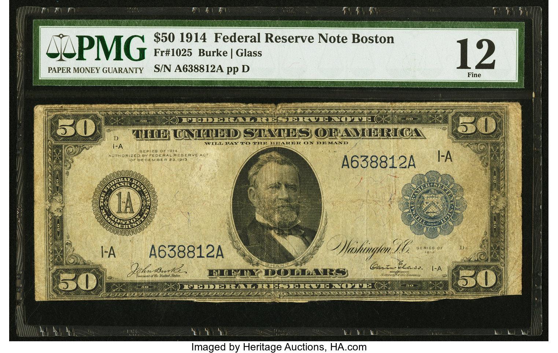 sample image for Fr.1025 $50 Boston