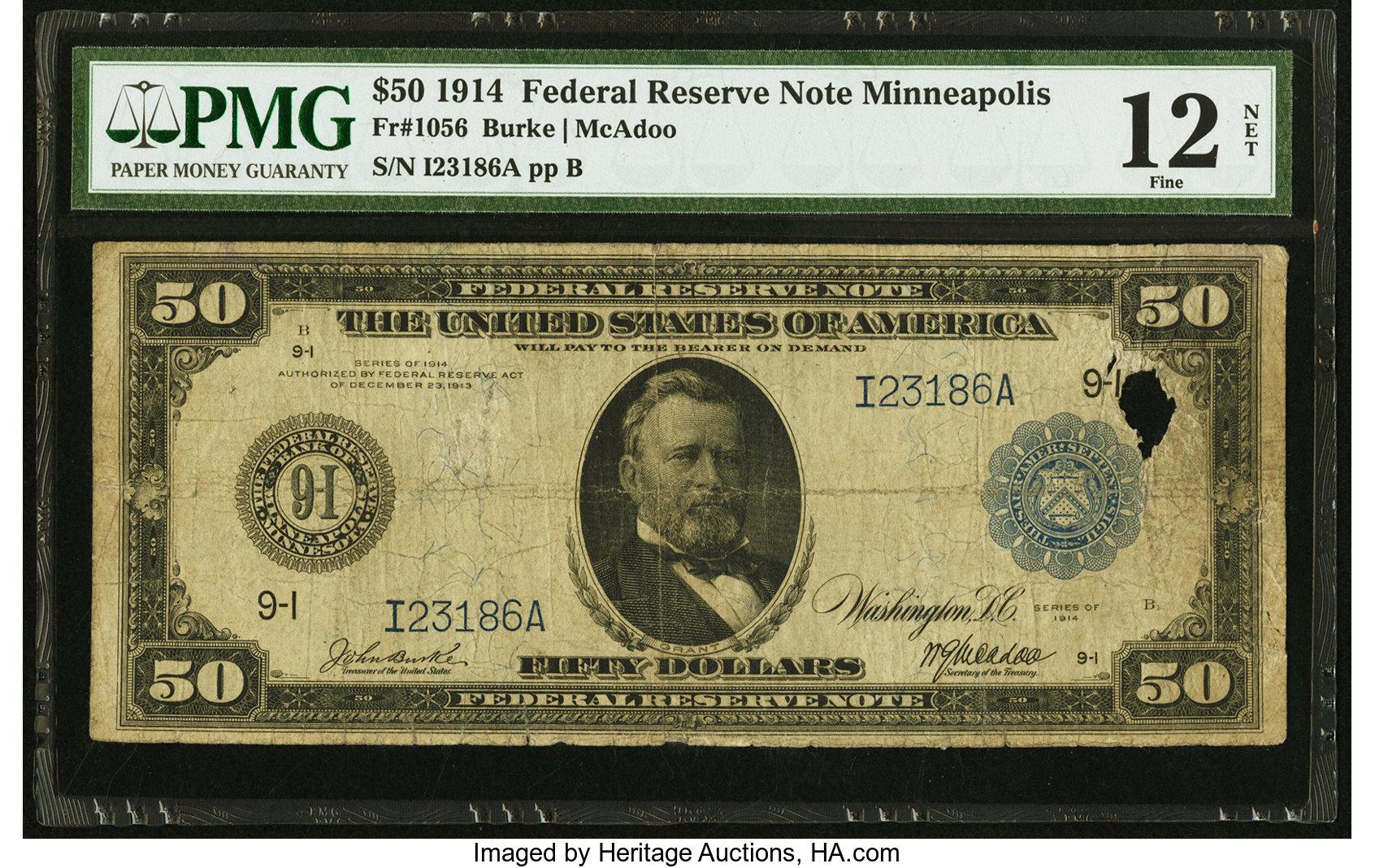 sample image for Fr.1056 $50 Minneapolis