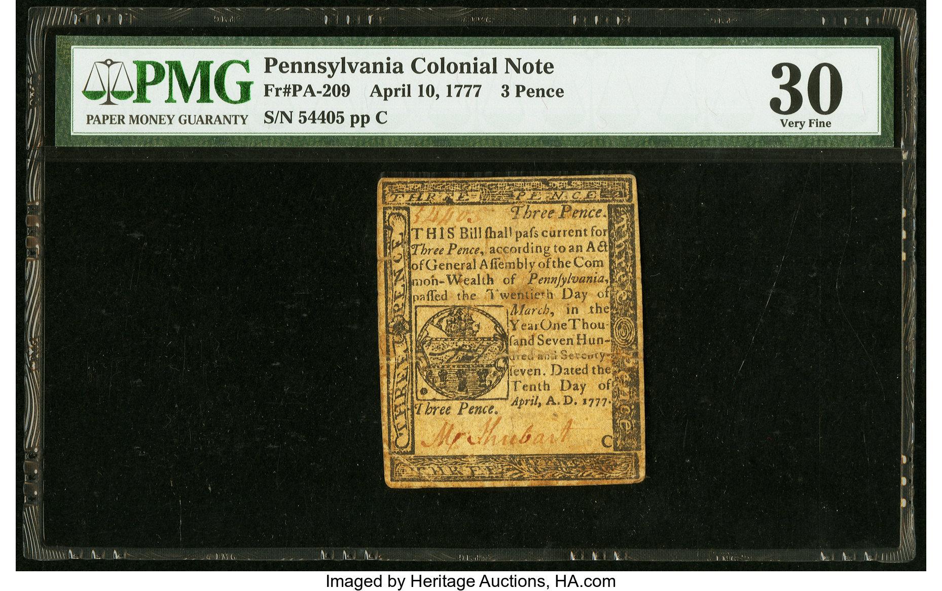 sample image for 1777 10-Apr 3d (Fr.# PA209)