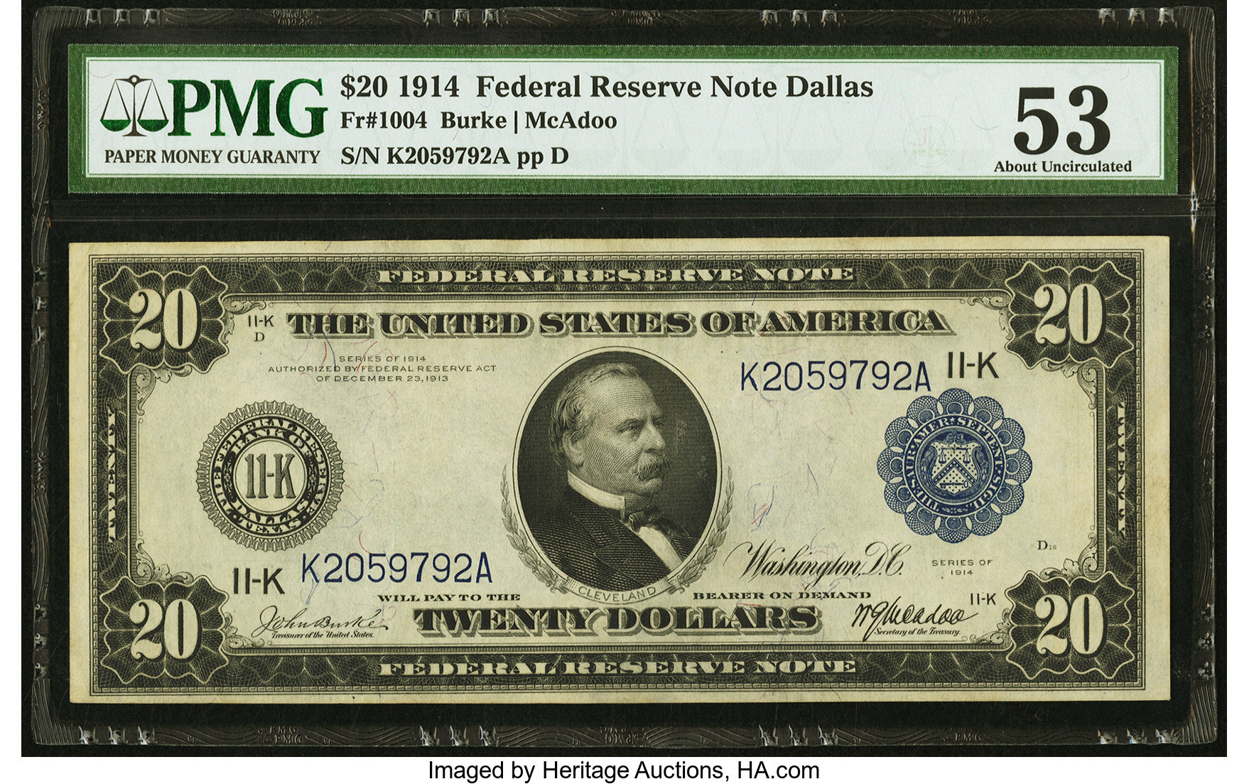 sample image for Fr.1004 $20 Dallas