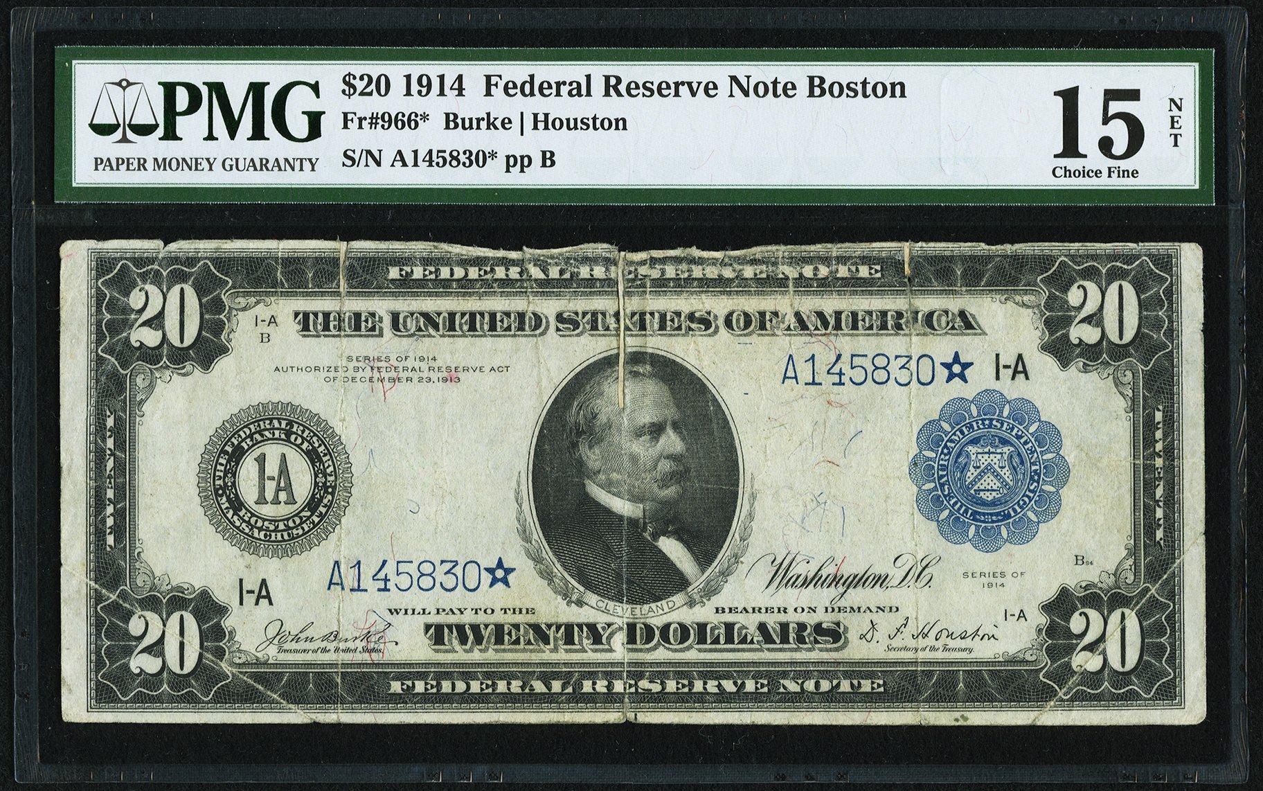 sample image for Fr.966 $20 Boston