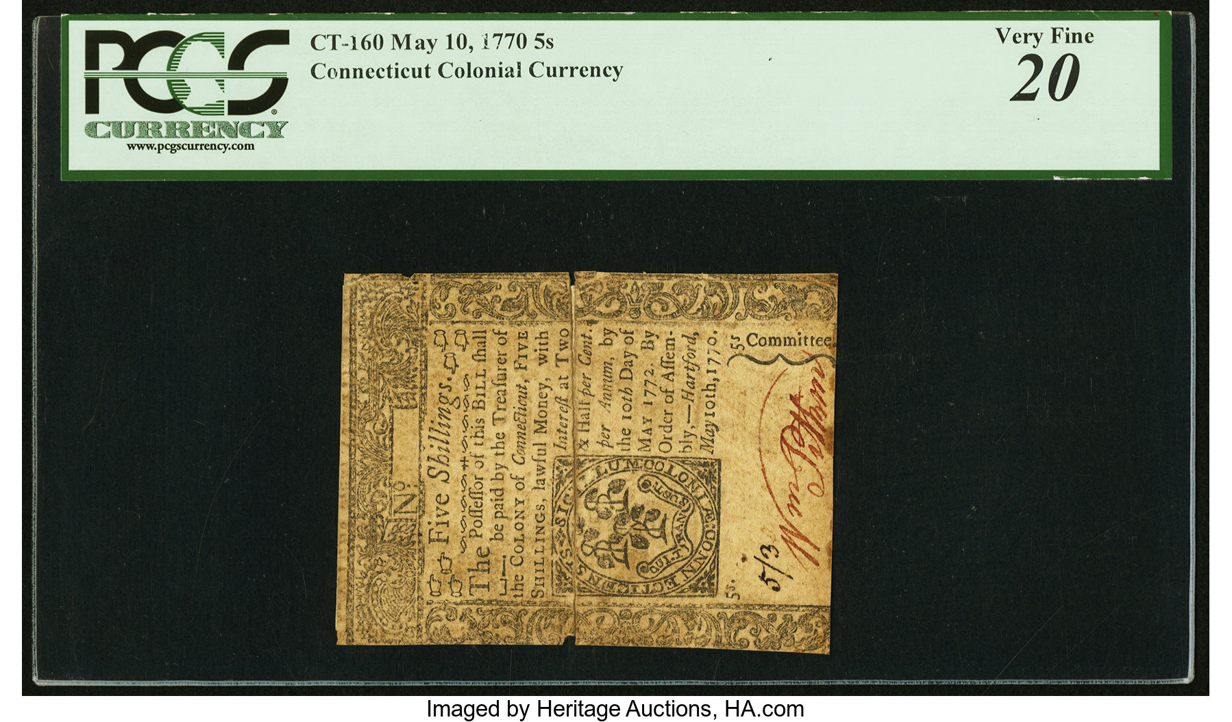 sample image for 1770 10-May 5S (Fr.# CT160)