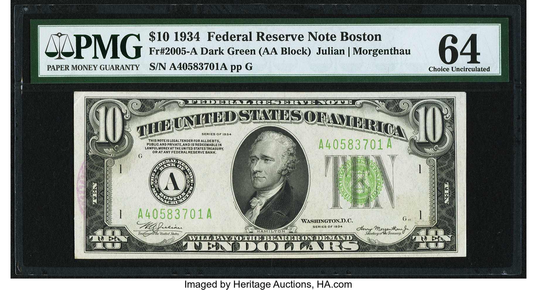 sample image for Fr.2005A $10
