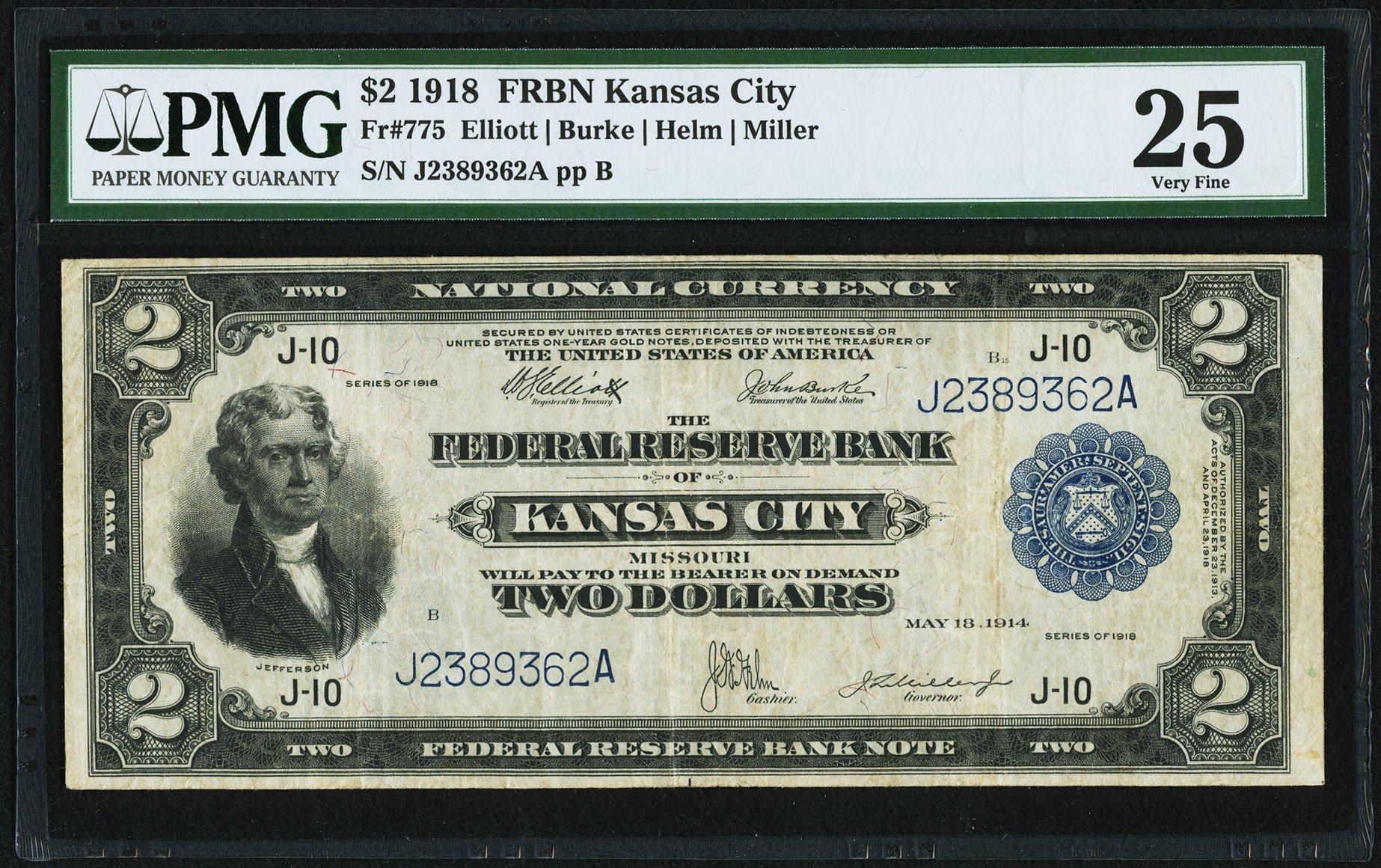 sample image for 1918 $2  Kansas City (Fr.# 775)