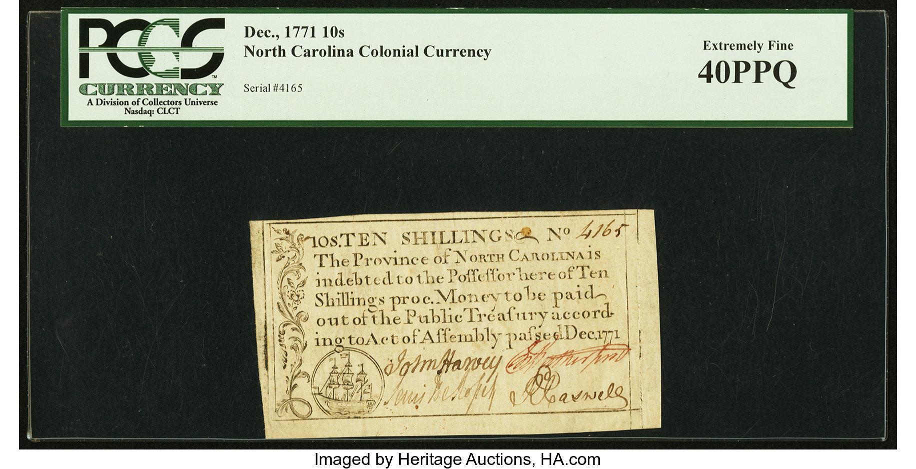 sample image for 1771 December 10s (Fr.# NC138)