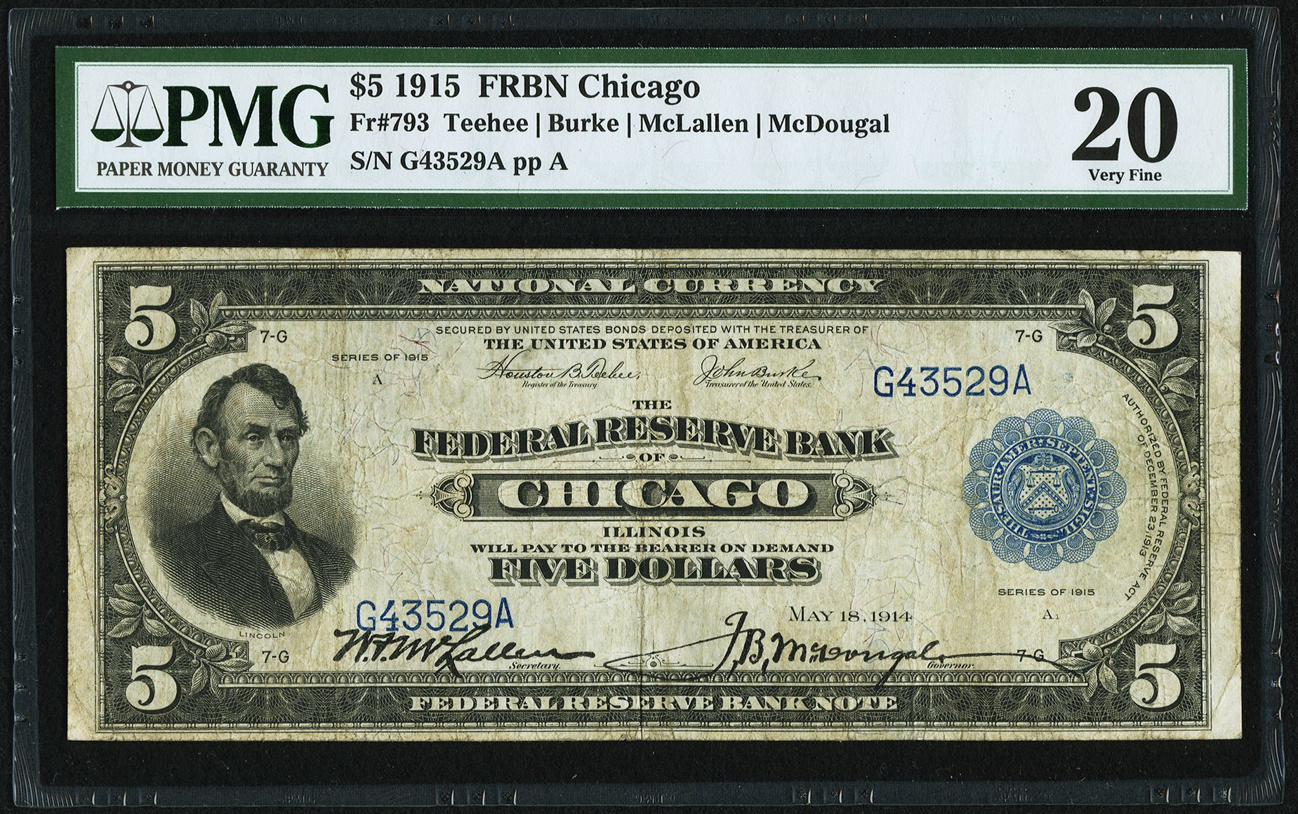 sample image for 1915 $5  Chicago (Fr.# 793)