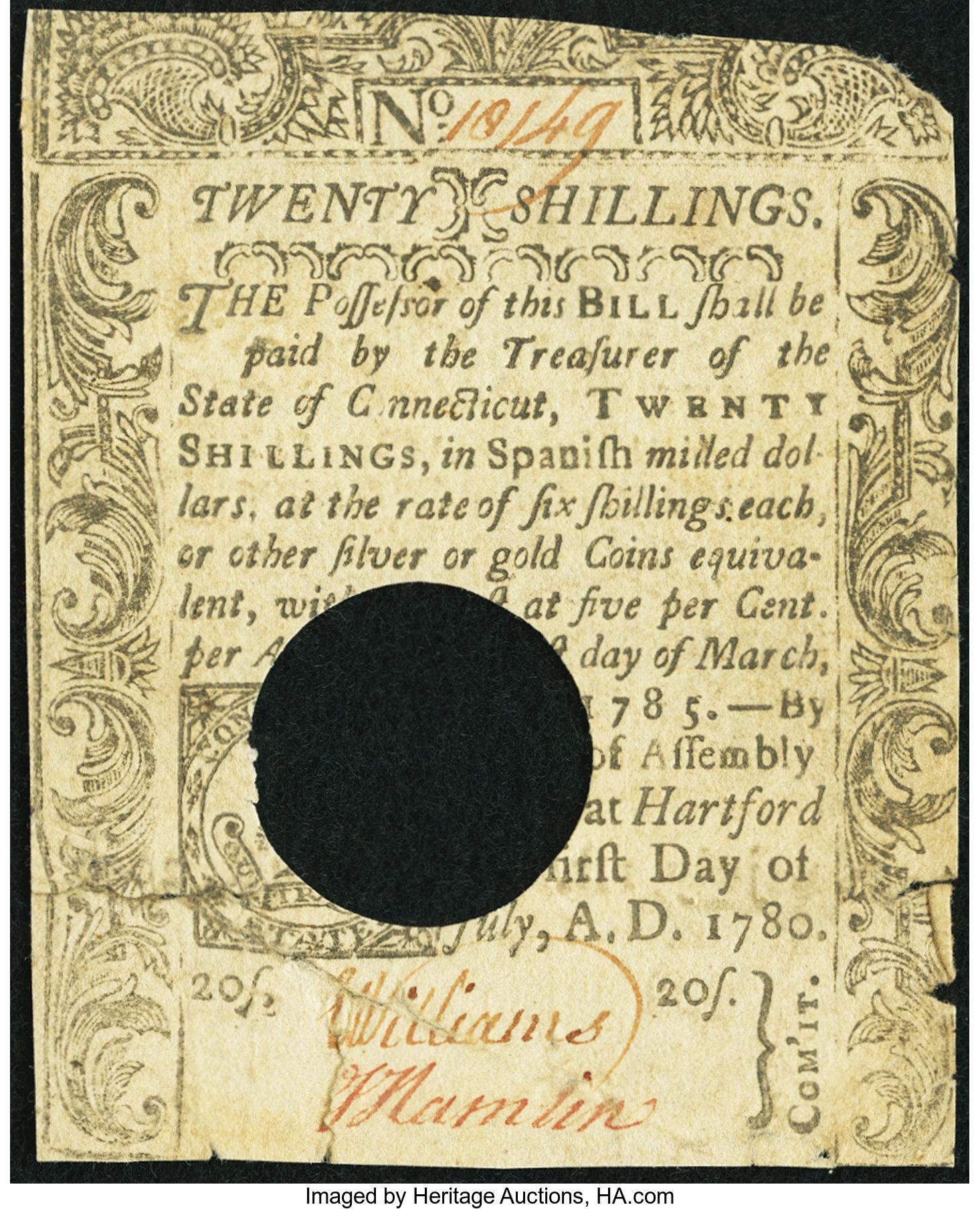 sample image for 1780 1-Jul 20s (Fr.# CT239)