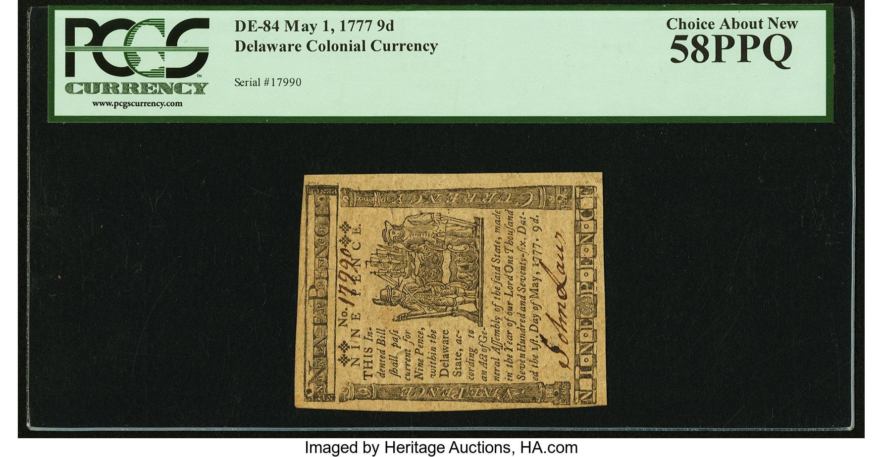 sample image for 1777 1-May 9d (Fr.# DE84)