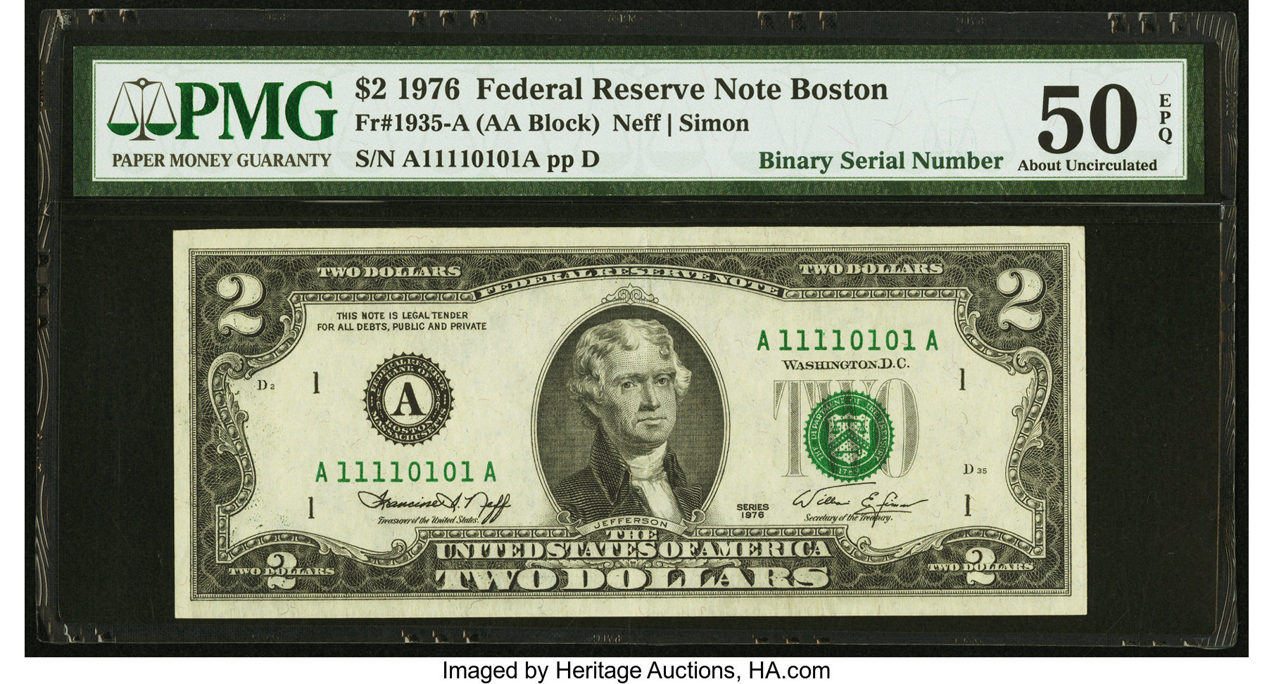 sample image for 1976 $2  Boston (Fr.# 1935A)