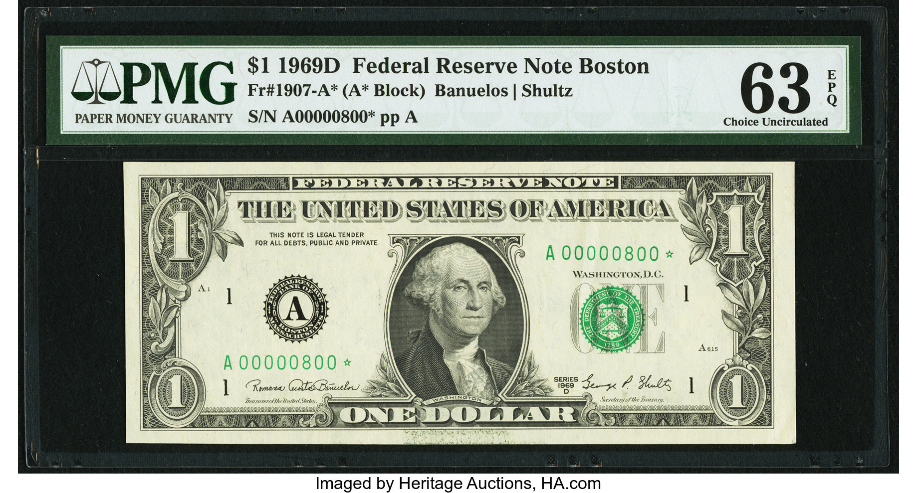 sample image for 1969D $1  Boston (Fr.# 1907A*)