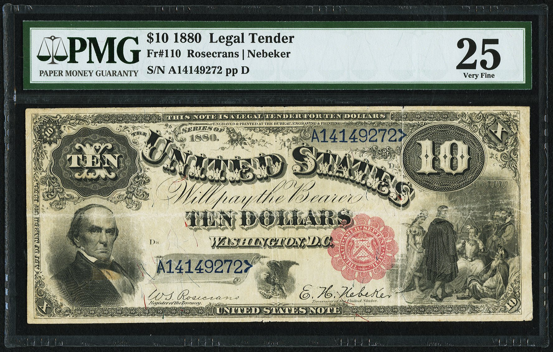 sample image for 1880 $10  (Fr.# 110)