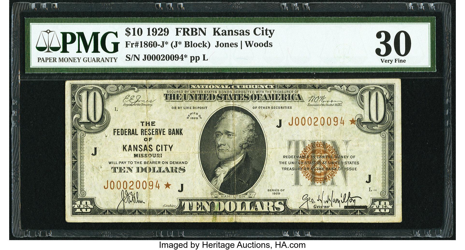 sample image for 1929 $10  Kansas City (Fr.# 1860J)