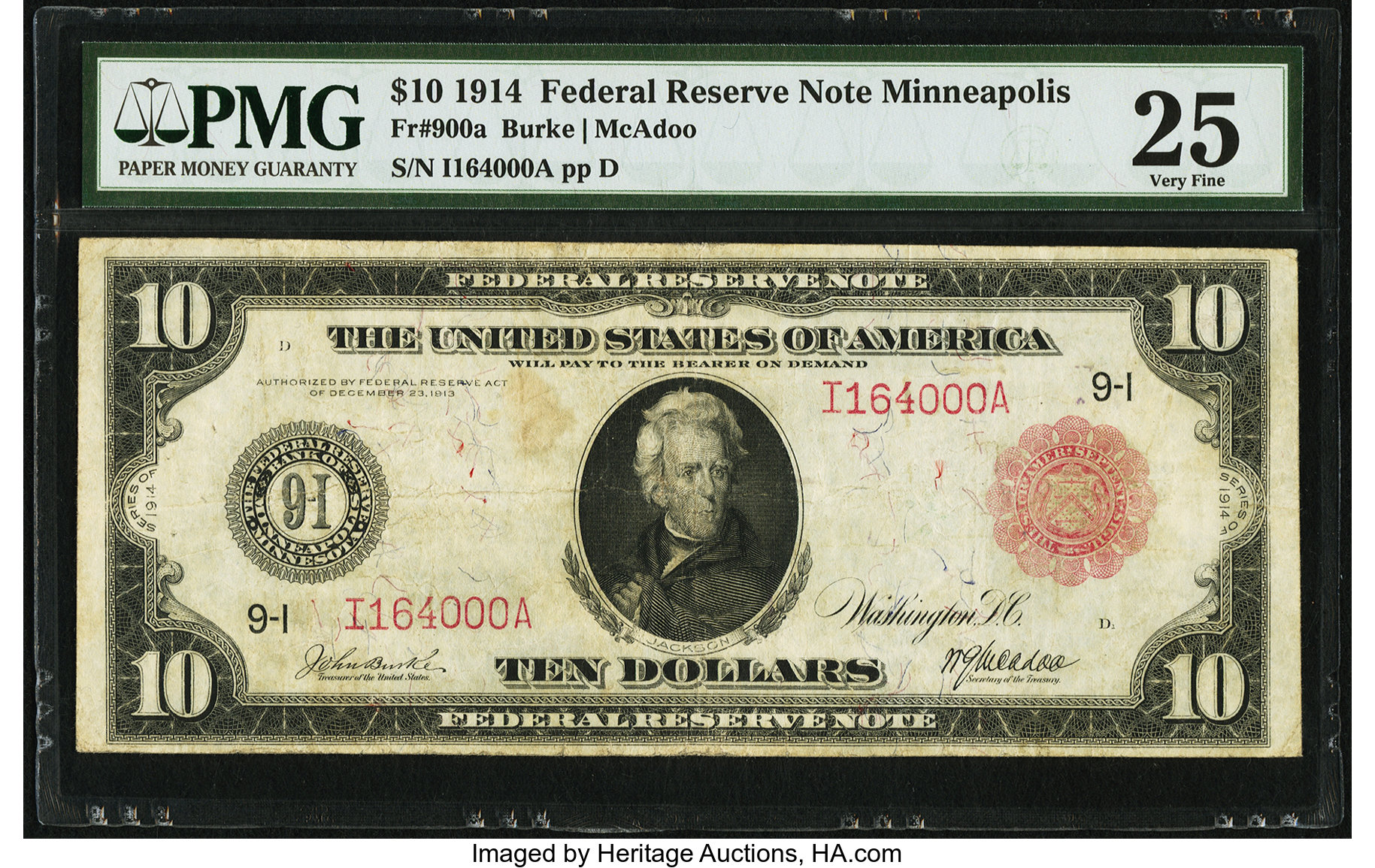 sample image for Fr.900A $10 Minneapolis RS