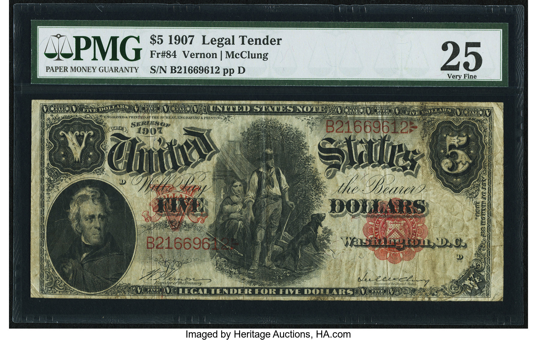 sample image for 1907 $5  (Fr.# 84)