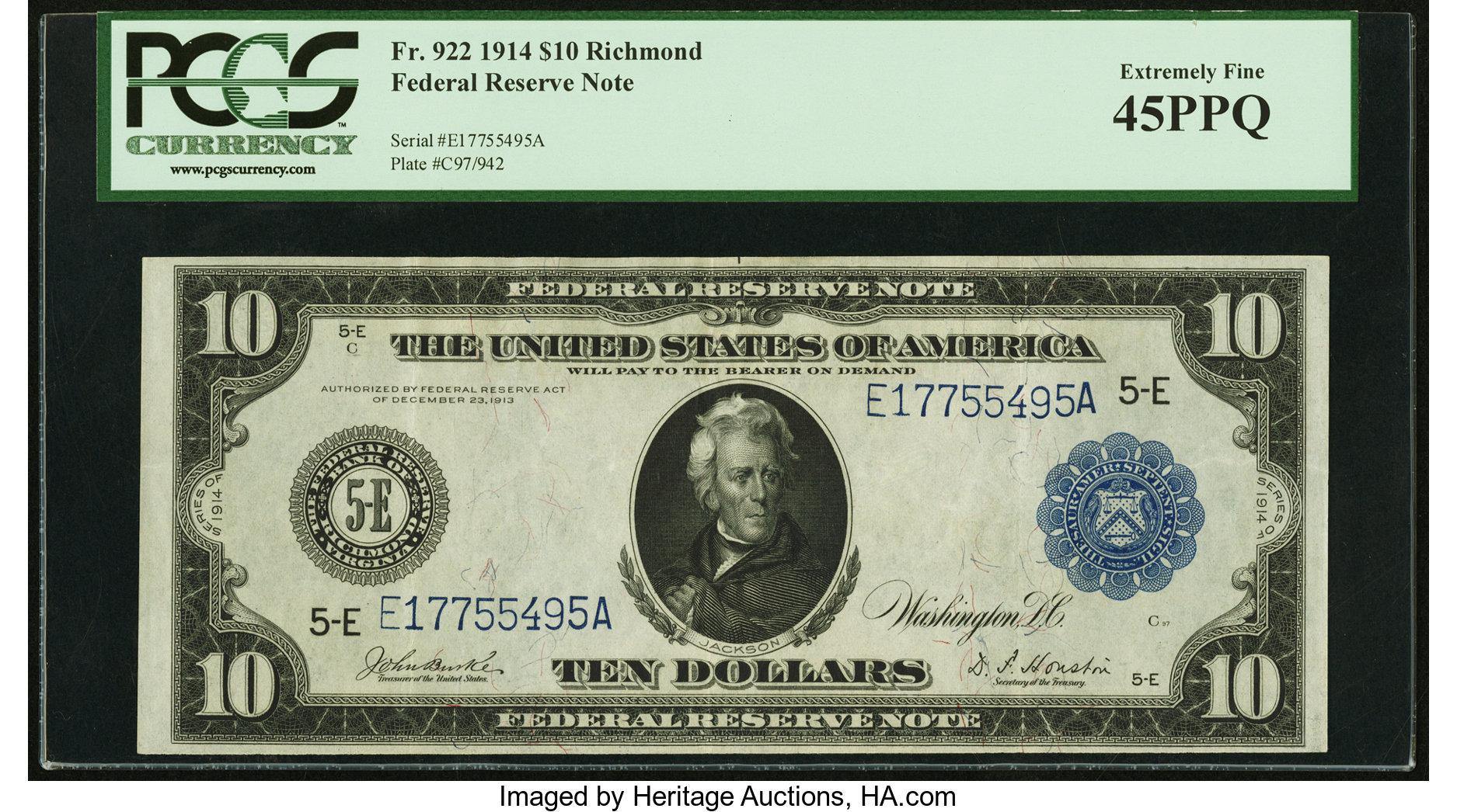 sample image for Fr.922 $10 Richmond