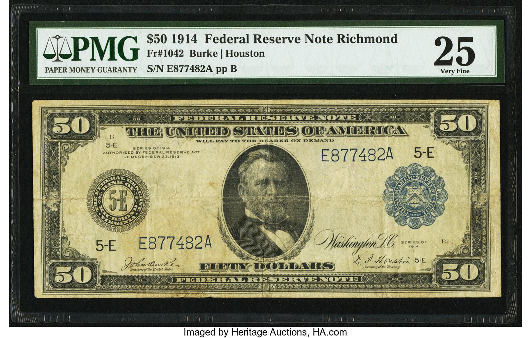 sample image for Fr.1042 $50 Richmond