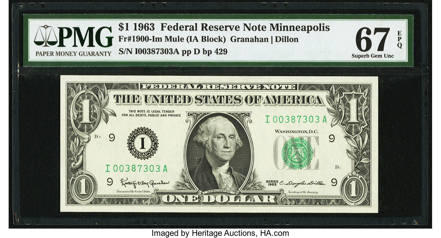 sample image for 1963 $1  Minneapolis (Fr.# 1900I)