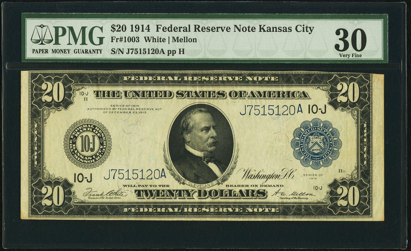 sample image for Fr.1003 $20 KC