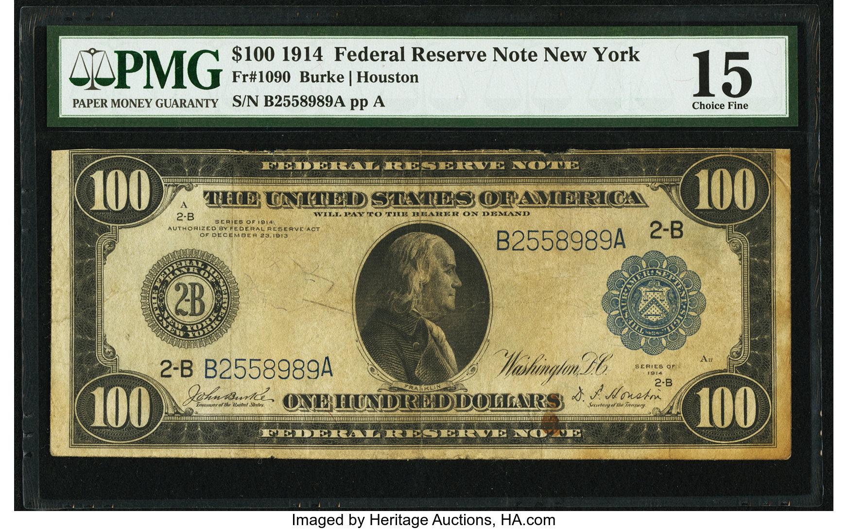 sample image for Fr.1090 $100 NY
