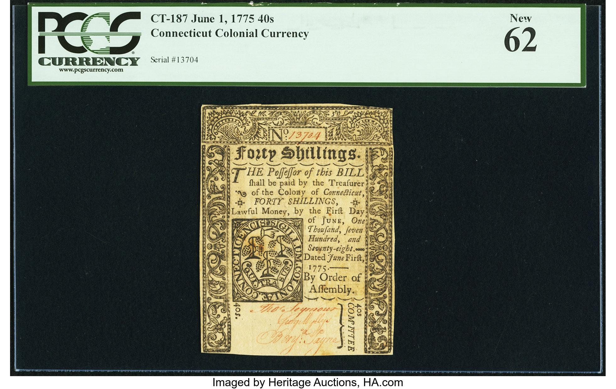 sample image for 1775 1-Jun 40s (Fr.# CT187)