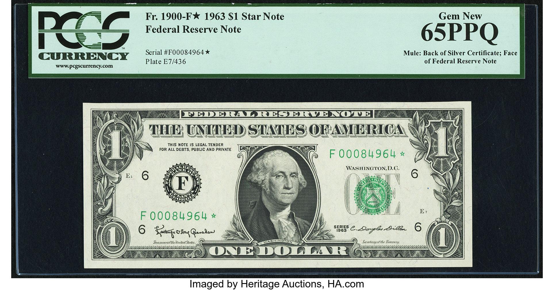 sample image for 1963 $1  Atlanta (Fr.# 1900F*)