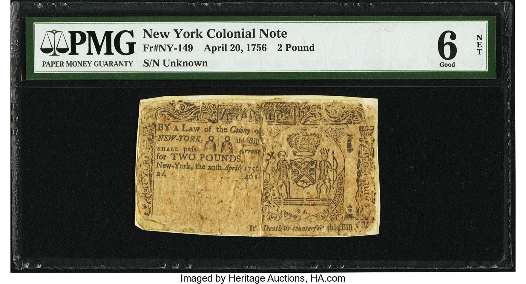 sample image for 1756 20-Apr £2 (Fr.# NY149)