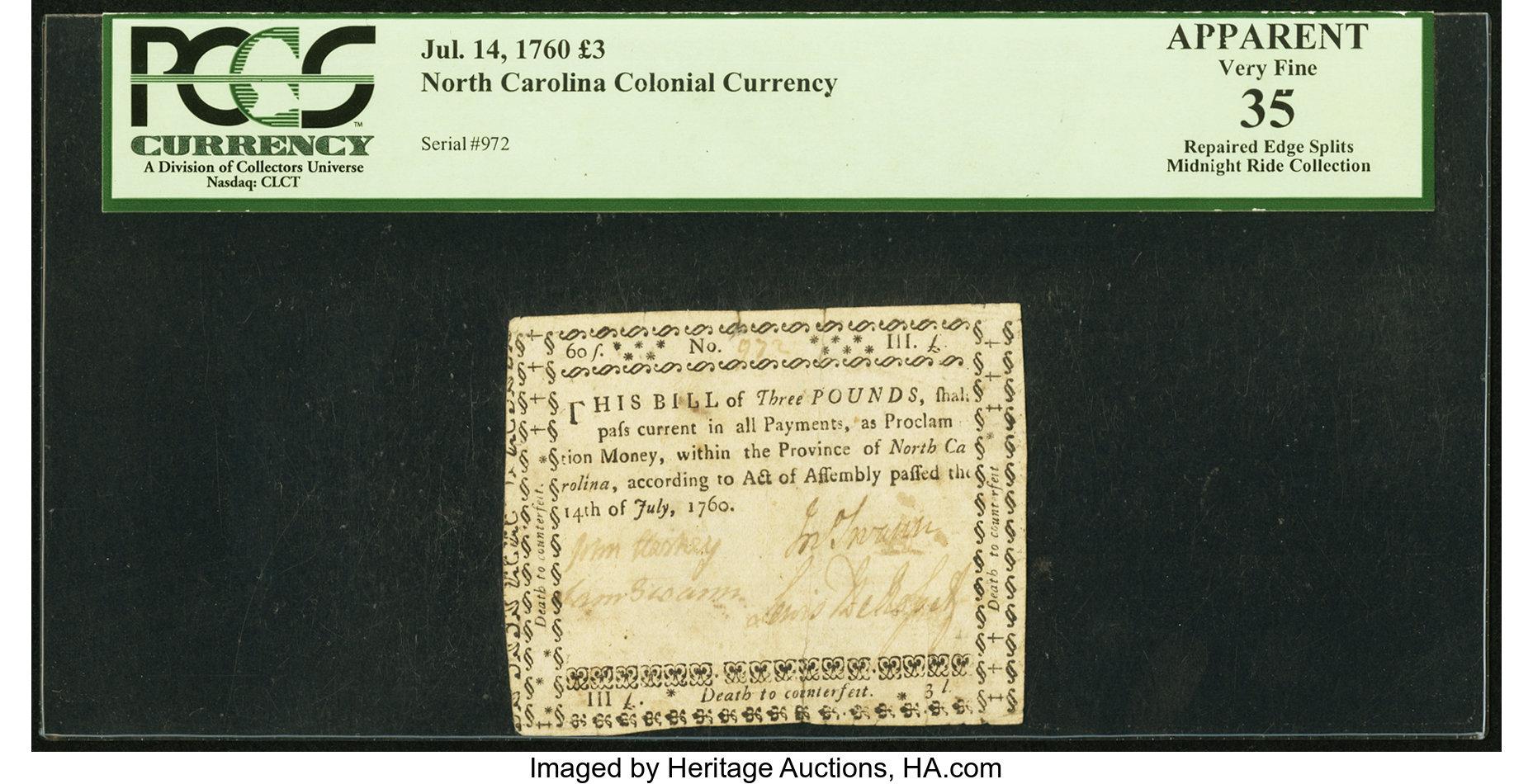sample image for 1760 14-Jul £3 (Fr.# NC112)