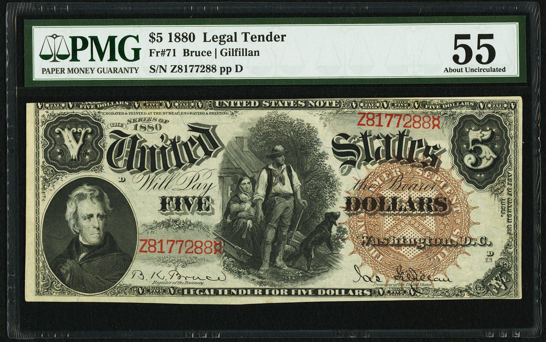sample image for 1880 $5  (Fr.# 71)