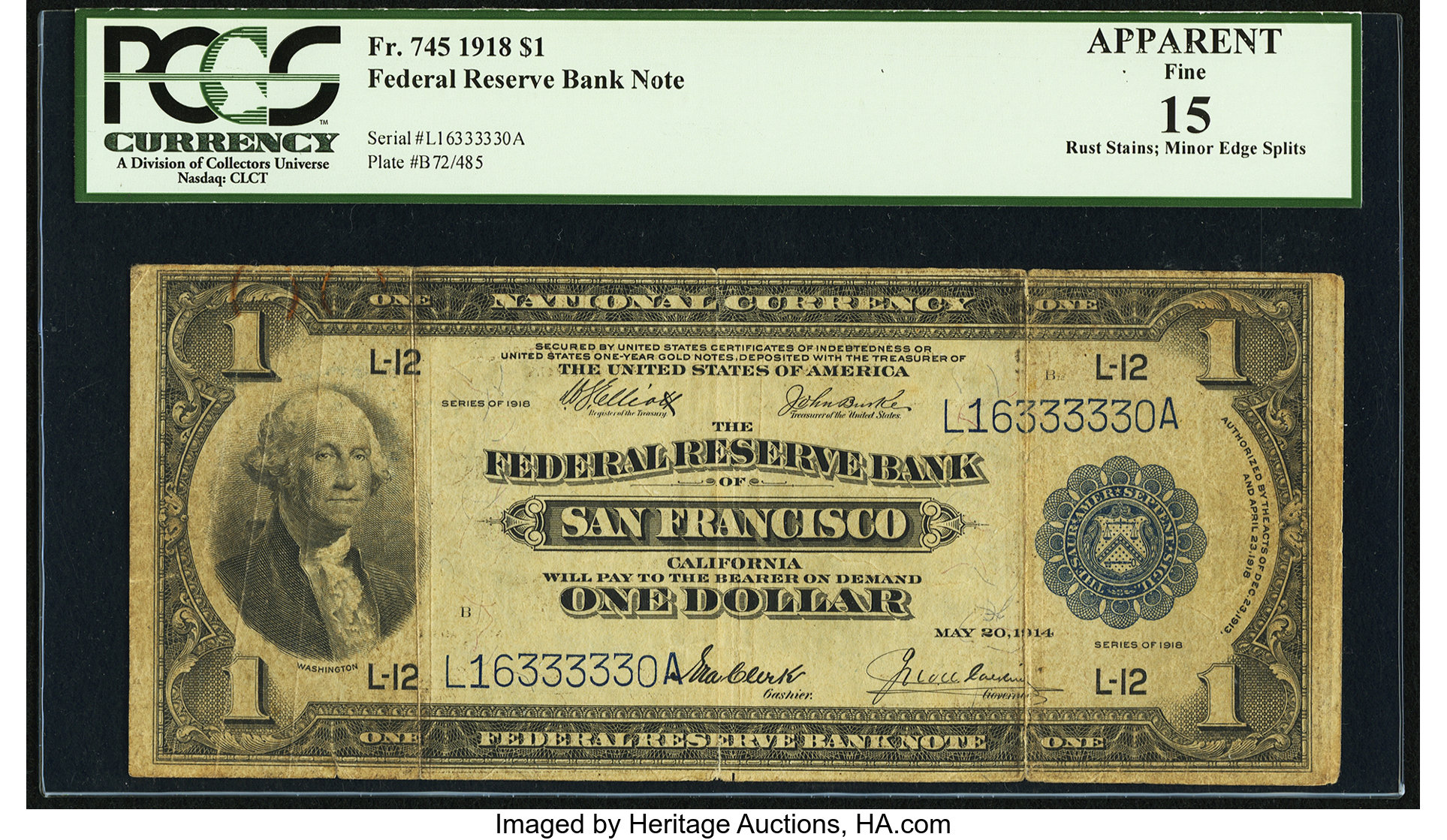sample image for 1918 $1  San Francisco (Fr.# 745)