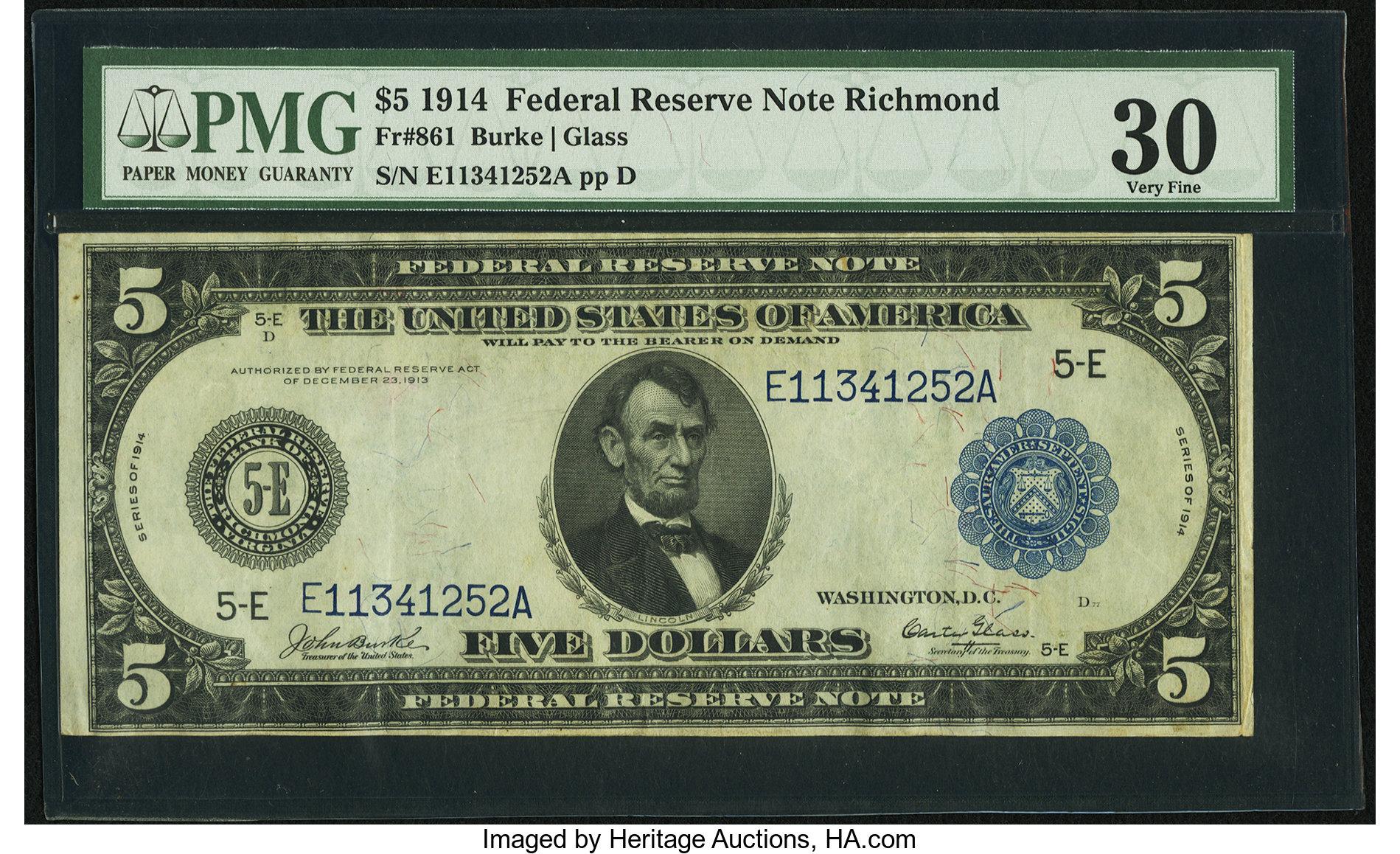 sample image for Fr.861 $5 Richmond