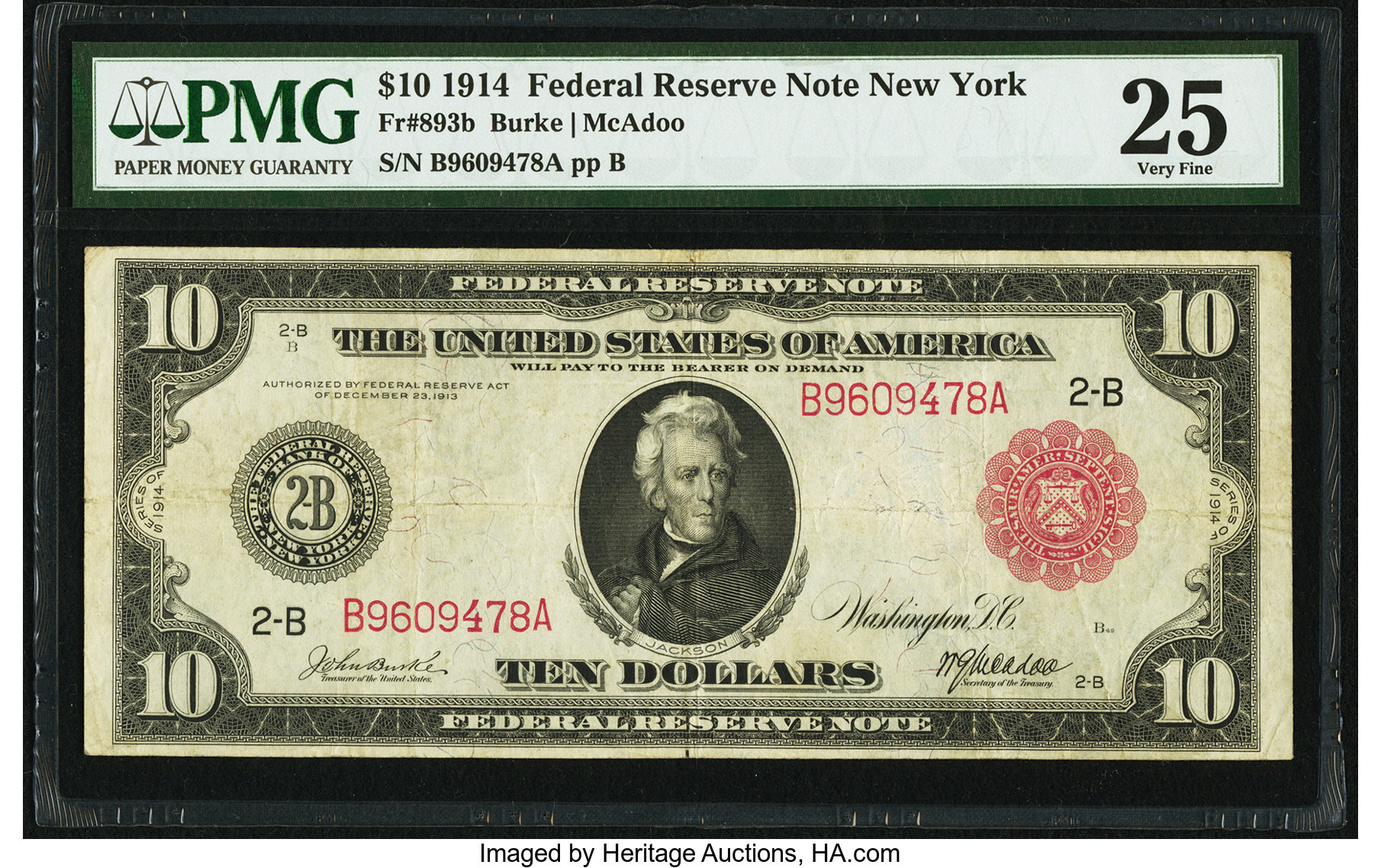sample image for Fr.893B $10 NY RS